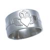 Titanium Ring - Claddagh Relief