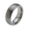 Titanium Ring - Groovy