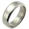 Titanium Ring - Flat Classic Rounded Edge